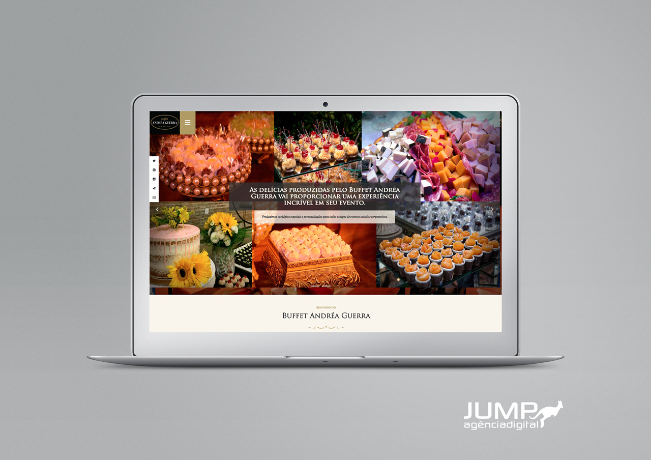 Projeto Website Buffet Andrea Guerra